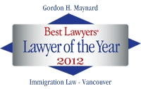 Vancouver Immigration Lawyer Gordon H Maynard