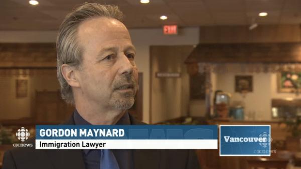 Gordon Maynard of Vancouver immigration law firm Maynard Kischer Stojicevic