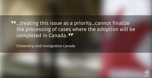 Canadian government temproarily suspended adoptions from Japan