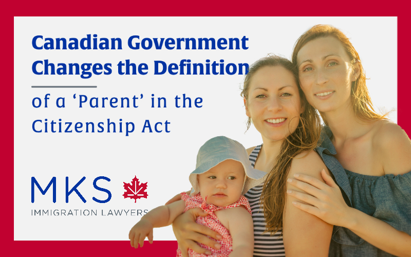 Canadian Citizenship Act - Definition of a Parent Changes